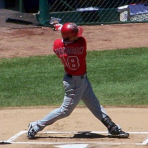 Kevin Frandsen - Frandsen batting for the Los Angeles Angels of Anaheim in 2010.