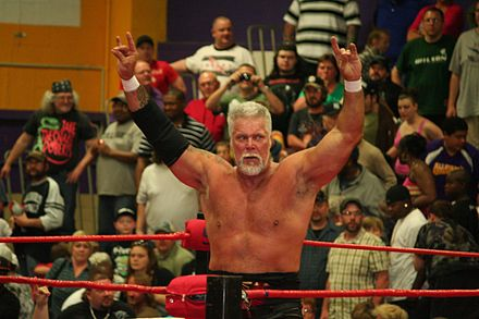 Nash posing after a match in April 2012 Kevin Nash indy.jpg