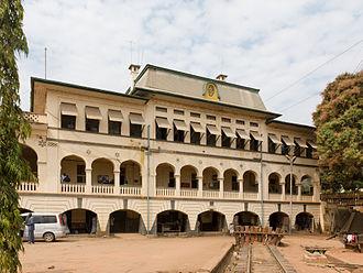 Central Line (Tanzania) - Kigoma railway station, viewed from station yard, 2010.
