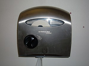 Automatic toilet paper dispenser - An automatic toilet paper dispenser by Kimberly-Clark, January 2008