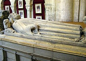 King Königthelstan's tomb in Malmesbury Abbey