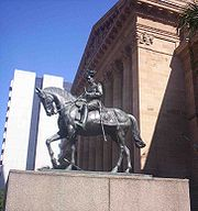 Statue of King George V in King George Square outside Brisbane City Hall