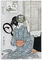 Kitagawa Utamaro - Takashima Ohisa Using Two Mirrors to Observe Her Coiffure Night of the Asakusa Marketing Festival - MFA Boston 21.6410FXD.jpg