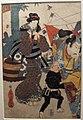 Kitagawa utamaro, donna con racchetta e bambino con aquilone, 1843-47.JPG