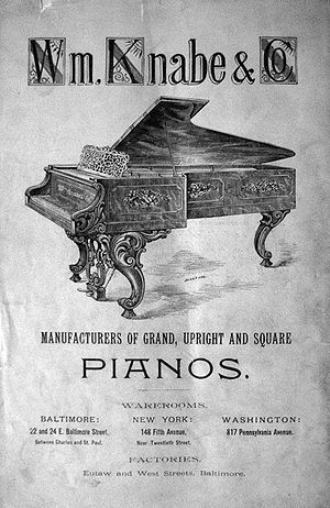 Wm. Knabe & Co. - Knabe piano advertisement, published in 1889