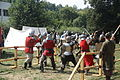 Knight fight at Slavnosti Tří Kápí 2015 in Třebíč, Třebíč District.JPG