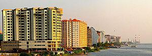 Skyline of Kochi, India.