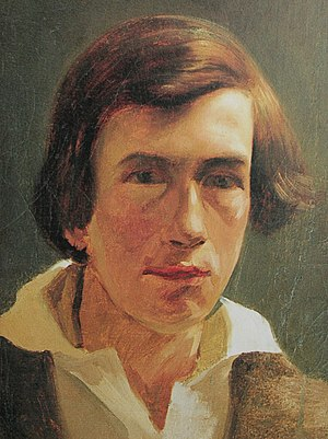 Rudolf Koller - Koller's portrait of the young Arnold Böcklin, 1847