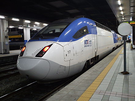 Trem da Korea Train Express. - Coreia do Sul