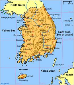 severna koreja mapa Južna Koreja — Vikipedija, slobodna enciklopedija severna koreja mapa