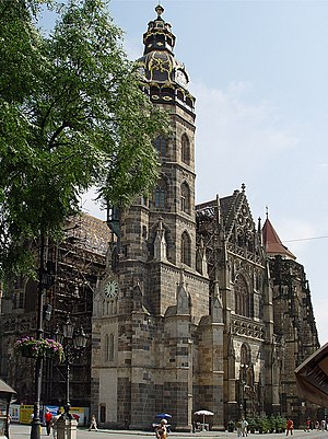 Hungarians in Slovakia - St. Elisabeth Cathedral in Košice (dedicated to Elisabeth of Hungary), where the Hungarian national hero Francis II Rákóczi is buried with his family