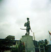 Statuo de Sangolli Rayanna ĉe Bengaluro-Karnatako