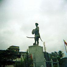 Statuo de Sangolli Rayanna ĉe Nandgad