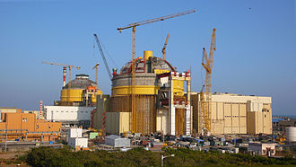 Nuclear power in India - Kudankulam power plant while still under construction