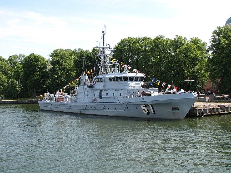 Kurki 51 patrol craft in Suomenlinna 2