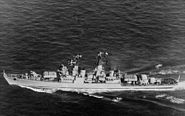 Kynda class cruiser underway