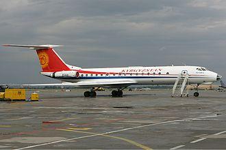Manas International Airport - Kyrgyzstan Airlines Tupolev Tu-134A at Bishkek-Manas.