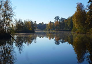Långsjön, Älvsjö lake in Huddinge, Sweden