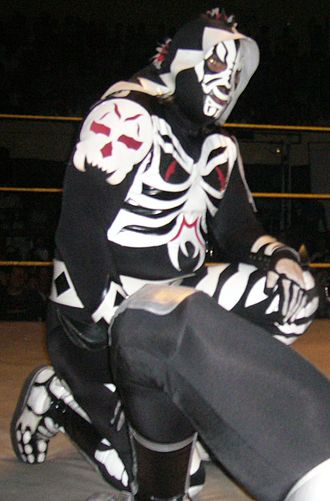 Triplemanía XIX - L.A. Park wearing the trademark mask he put on the line at Triplemanía XIX