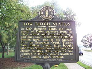 Low Dutch Station - Low Dutch Station historical marker