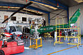 La Cartuja Heliport, Inside the hangar.jpg