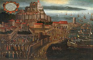 Dénia - 1609 Expulsion of the Moriscos at the port of Dénia, by Vincente Mostre