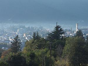 Córdoba Province, Argentina - La Falda and the Córdoba Sierras foothills.
