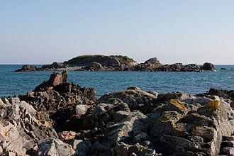 La Motte, Jersey - The islet in 2012