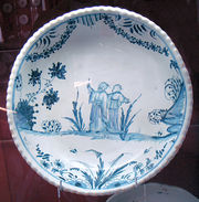 La Rochelle Faience de grand feu with Chinese decorations 18th century