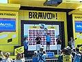 La course by Le Tour de France 2019 à Pau - Podium classement meilleur jeune UCI World Tour.jpg