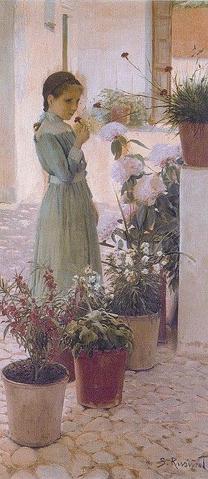 Cau Ferrat Museum - Santiago Rusiñol. The Girl with Carnation, 1893