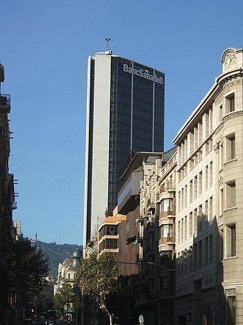 La sede del Banc Sabadell Balmes