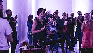 Studio Voltaire - Lætitia Sadier performing in 2017