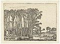 Landschap met kale bomen aan een water Verscheyden Lantschapjes (serietitel), RP-P-BI-5321.jpg