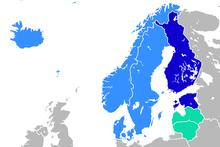 Nordic Europe Map.Northern Europe Wikipedia