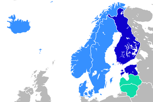 Baltic region - Image: Languages in Northern Europe