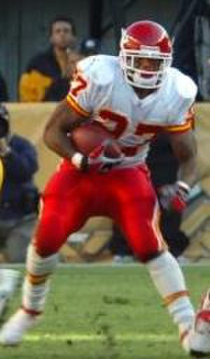Logos and uniforms of the Kansas City Chiefs - Image: Larry Johnson Chiefs