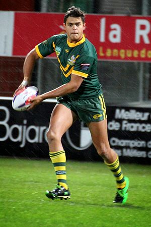 Latrell Mitchell - Mitchell playing for the Australian Schoolboys