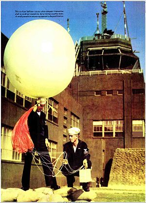 Radiosonde - US sailors launching a radiosonde during World War 2