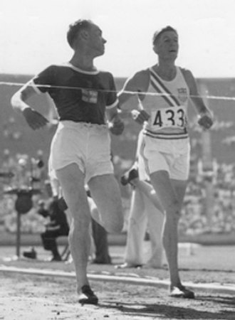 Ralph Hill - Lehtinen (left) and Hill at the 1932 Olympics