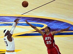Thabo Sefolosha - Sefolosha defending LeBron James.
