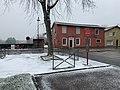Le Roxy Brasserie Lounge et neige en train de tomber en janvier 2021.jpg