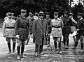 Le général Weygand, Paul-Boncour, et le général Gamelin - exercices combinés de 1932.jpg