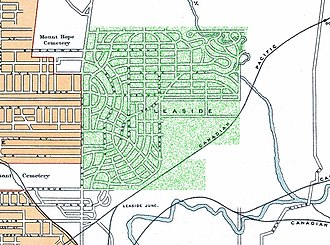 Leaside - Image: Leaside Road Map 1913Highlighted In Green