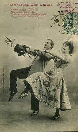 Cakewalk - Cakewalk lesson, 1900s.