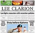 Lee Clarion Newspaper 2009-02-27.jpg