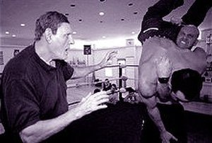 Killer Kowalski - Kowalski training John Quinlan and The Boston Brawler in 2000