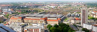 Transport in Germany - Leipzig Hauptbahnhof, the world's largest railway station by floor area