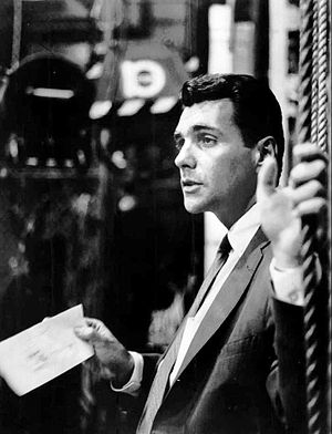 Les Crane - Crane on the set of his television talk show, 1964