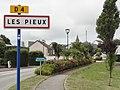Les Pieux (Manche) city limit sign.jpg
